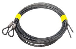 Garage Door Pair Extension Spring CABLE. 8' DOOR - 1/8 7X7 13'