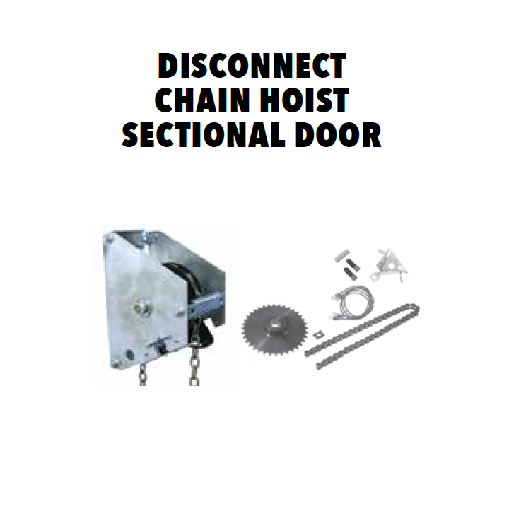 Garage Door Disconnect Chain Hoist 1