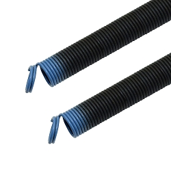 Garage Door 7' ft 25-42-90 Extension Springs 90 lb Coded Light Blue Small ( Pair )