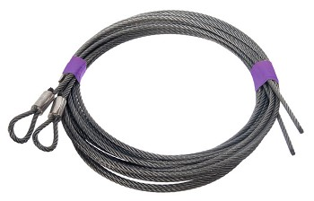Garage Door Pair Extension Spring CABLE. 7' DOOR - 1/8 7X19 12'